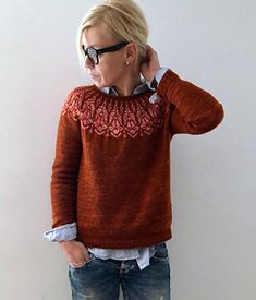 Chauncey sweater Knitting pattern by Isabell Kraemer - Stricken Cardigan 2019 Sweater Knitting Patterns, Knitting Designs, Knit Patterns, Jersey Jacquard, Cardigan En Maille, Ravelry, Looks Street Style, How To Purl Knit, Fair Isle Knitting