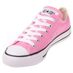 The Converse Chuck Taylor All Star Pink Low Top will make any feet pretty in pink, with a sturdy canvas upper, durable rubber outsole and vulcanized Converse construction.