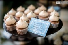 carrot cupcakes  with brown sugar cinnamon frosting