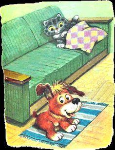 Kto povedal mňau 1 Cute Animal Illustration, Animal Illustrations, Preschool, Cute Animals, Teddy Bear, Education, Art, Dogs, Pretty Animals