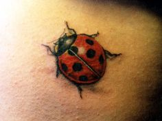 ladybug tattoo--I want this on my pinky.. Is that weird?