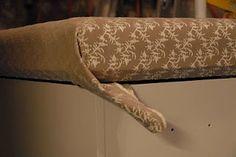 diy upholstered top for cedar chest - from living livelier