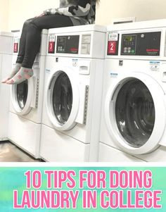 10 Tips For Doing Laundry In College - eyeliner wings & pretty things College Life Hacks, College Years, College Fun, College Students, College Tips, Dorm Life, College Checklist, College Campus, Freshman Year