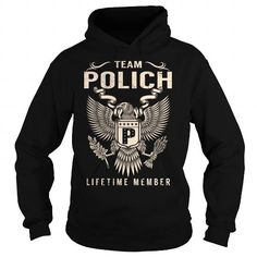 Awesome Tee Team POLICH Lifetime Member - Last Name, Surname T-Shirt T shirts