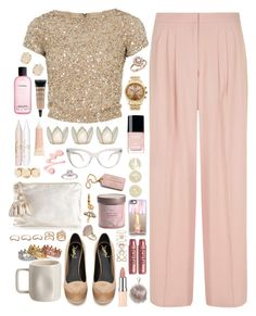 """""""Florance - $6,117.69"""" by shazellove ❤ liked on Polyvore featuring Luxe, Alice + Olivia, Yves Saint Laurent, Bloomingdale's, Chanel, Cultural Intrigue, Kendra Scott, MAC Cosmetics, NYX and KamaliKulture"""