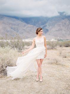 Desert Winter Wedding Inspiration   Wedding Sparrow