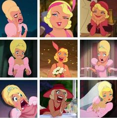 Some of Charlotte's great facial expressions from Princess and the Frog