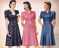 dresses are considered to be vintage dresses. You may buy them in order to look cool at a cost 1940s Fashion Women, 1940s Fashion Dresses, 1940s Dresses, Plus Size Fashion For Women, Vintage Dresses, Vintage Outfits, Vintage Fashion, 1940's Fashion, Club Fashion