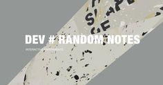 DEV # RANDOM NOTES - WebGL Playground created by interactive designer Du Haihang…