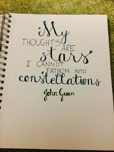 Drawn by it's just Katie ✩constellations✩ John Green