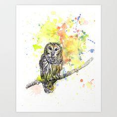 Hoot Art Print by idillard - $18.00