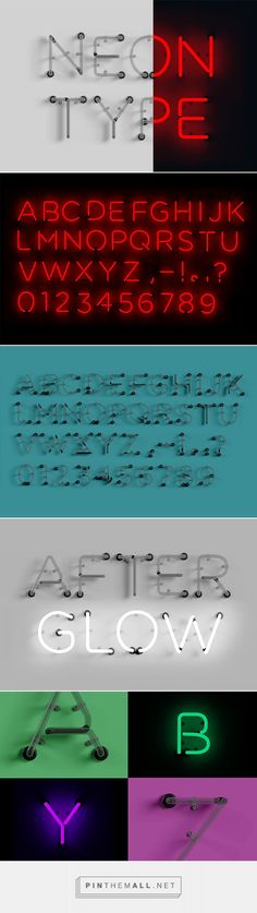 Neon Type - Graphics - YouWorkForThem #font