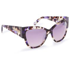 47160f3a97 Henri Bendel Morgan Cat Eye Sunglasses ( 145) ❤ liked on Polyvore featuring  accessories