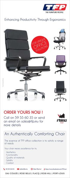 TFP International Ltd - Order Your Office Chair NOW ! Tel: 59 55 60 35