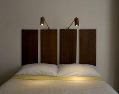 Mahogany Led Bedside Reading Light