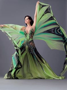 fairy clothing   Butterfly dress..   Fairy Clothes & Shoes. I love the patterning in this dress it is very intricate and very interesting. I love how it flows and I love the cut of the dress itself it is very cool and interesting.