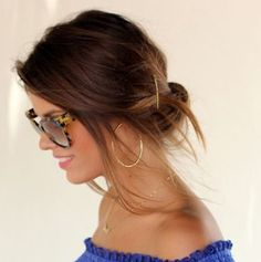 Simple Brunette Updo - Casual, Evening, Formal, Party, Summer -  Careforhair.co.uk