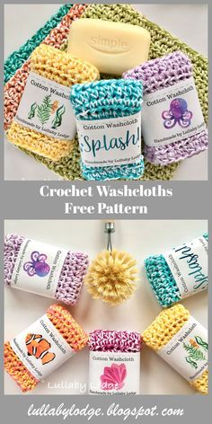 Learn how to make these gorgeous colourful crochet washcloths. Easy pattern suit… Learn how to make these gorgeous colourful crochet washcloths. Easy pattern suitable for beginners. Can be used as dishcloths, washcloths, face cloths, spa cloths… Crochet Kitchen, Crochet Home, Knit Or Crochet, Crochet Gifts, Free Crochet, Crochet Stitches Free, Crochet Mandala, Crochet Quotes, Crochet Scrubbies