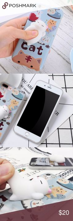 iPhone Squishy Cat Case Available for:  iPhone 6 iPhone 6s iPhone 6 Plus iPhone 6s Plus  iPhone 7 iPhone 7 Plus iPhone 8 iPhone 8 Plus Accessories Phone Cases