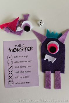love, love, LOVE this.Roll a Monster Game. love, love, LOVE this.Roll a Monster Game. Theme Halloween, Halloween Crafts, Halloween Drawings, Monster Party, Monster High, Toddler Activities, Preschool Activities, Drawing Activities, Summer Activities