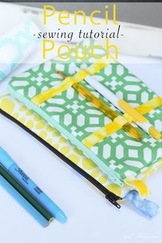 Pencil Pouch // Back to School // Sewing Tutorial // Stef Knaus