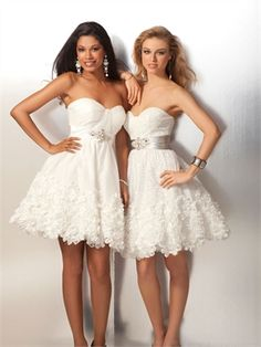 A-line Sweetheart with stunning cluster of jewels Sash Prom Dress PD0230 www.simpledresses.co.uk £73.0000