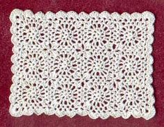 1:48 scale crocheted bedspread Idea and instructions by Anna-Carin Betzén