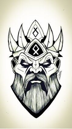 mais no insta Norse Tattoo, Viking Tattoos, Pencil Art, Pencil Drawings, Tattoo Gesicht, Tattoo Drawings, Art Drawings, Tattoo Painting, Character Art