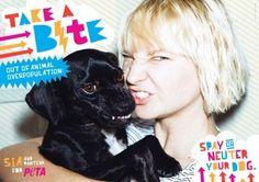 Sia encourages desexing of dogs and cats in new PETA ad