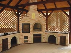 An outdoor kitchen can be an addition to your home and backyard that can completely change your style of living and entertaining. Earlier, barbecues temporarily set up, formed the extent of culinary attempts, but now cooking outdoors has become an. Outdoor Kitchen Patio, Outdoor Oven, Outdoor Kitchen Design, Outdoor Cooking, Patio Design, Backyard Patio, Outdoor Living, Outdoor Decor, Parrilla Exterior