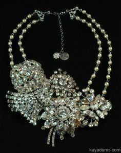 Vintage Bridal Wedding Necklace A Neck Bouquet by KayAdams on Etsy, $250.00