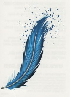 ✭ BEAUTIFUL BLUE FEATHER TEMPORARY TATTOO ✭ MADE IN THE USA ✭