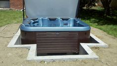 Half-way point on this in-ground spa.  In-ground hot tubs are our specialty.  They combine the aesthetics of a built-in gunite hot tub, with the hydrotherapy and efficiency of a portable hot tub.  http://www.coloradocustomspas.com/Denver-Inground-Spas-v-14.html