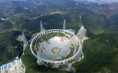 11/27/2015 - China joins hunt for extra-terrestrials with FAST - the world's biggest-ever telescope - the massive structure will allow scientists to gather signals from tens of   billions of light years away when it is completed in 2016.  That's FAST, alright!