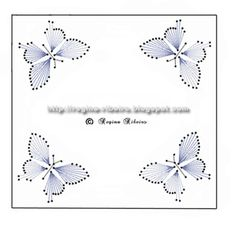 The Latest Trend in Embroidery – Embroidery on Paper - Embroidery Patterns Embroidery Cards, Embroidery Patterns, Hand Embroidery, String Art Tutorials, String Art Patterns, Paper Butterflies, Butterfly Cards, Butterfly Frame, Card Patterns