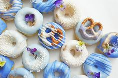 Save this recipe to make easy + yummy Ombre Donuts.