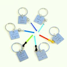 Lightsaber® Hand Stamped Quote Keychains