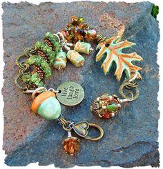 Sharing my newest design... Autumns  Glory -  Artisan Bead Bracelet. www.javabead.com