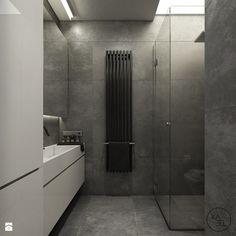 WORONICZA - Średnia łazienka w bloku bez okna, styl minimalistyczny - zdjęcie od KAEEL.GROUP | ARCHITEKCI