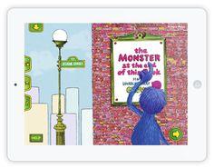 """""""The monster at the end of this book"""" mit Grobi aus der Sesamstraße ist eine englische, interaktive Kinderbuch App. Grobi hat große Angst vor Monstern, aber ist da wirklich eines am Ende der Geschichte?"""