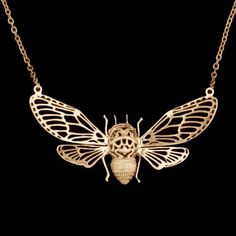 Gold Plated Bee Necklace @Chloe Bostwick