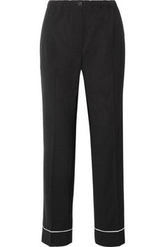 Prada - Wool Straight-leg Pants - Black - IT46