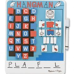 This hangman kit keeps the game colorful and engaging! Hangman is great for developing reading skills, as it stimulates the cognitive proceses.