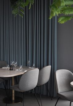 Add long curtains for both texture and colour - The Standard, Copenhagen Long Curtains, Curtains Living, White Curtains, Diy Curtains, Velvet Curtains, Blackout Curtains, Cafe Curtains, Hanging Curtains, Kitchen Curtains