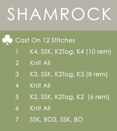 How to Knit a Shamrock Clover for St. Patrick's Day