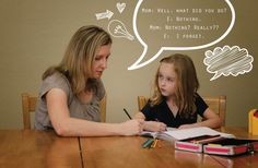 "Beyond ""How was your day?"": Getting kids to talk about their school day 