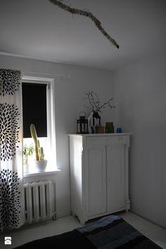 Sypialnia styl Skandynawski - zdjęcie od Agnieszka Kijowska - Sypialnia - Styl Skandynawski - Agnieszka Kijowska, black & white, scandinavian design, bedroom, stars, diy