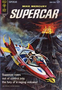 Supercar #3  Gold Key Comics  Written by Paul S. Newman with art by ray Osrin. Painted cover by George Wilson with back cover pin-up.