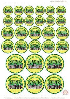 Plantas vs. Zombies: mini kit imprimible gratis - Mundo Mab | Kits de Cumpleaños para imprimir Ghostbusters Birthday Party, Zombie Birthday Parties, Leo Birthday, Zombie Party, Plants Vs Zombies, Zombies Vs, Plantas Versus Zombies, Ideas Decoracion Cumpleaños, Plant Zombie