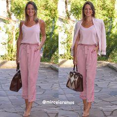 Look de trabalho - look do dia - look corporativo - moda no trabalho - work outfit - office outfit -  spring outfit - look executiva - look de verão  - summer outfit - calça clochard pink regata Blazer rosa rosê